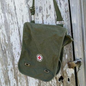 American Red Cross Army Green Bag